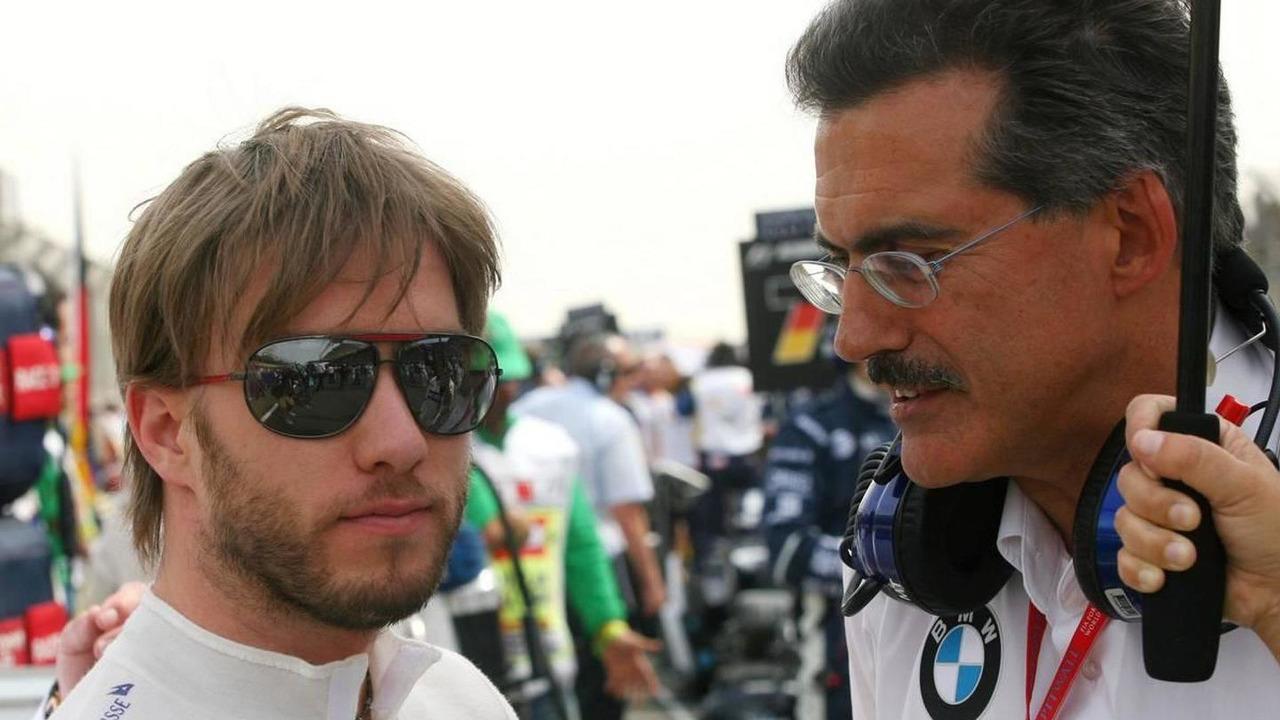 Nick Heidfeld (GER), BMW Sauber F1 Team, Dr. Mario Theissen (GER), BMW Sauber F1 Team, BMW Motorsport Director - Formula 1 World Championship, Rd 3, Bahrain Grand Prix, 06.04.2008 Sakhir, Bahrain
