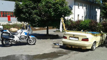 BMW 3-Series filled with water pulled over by German police
