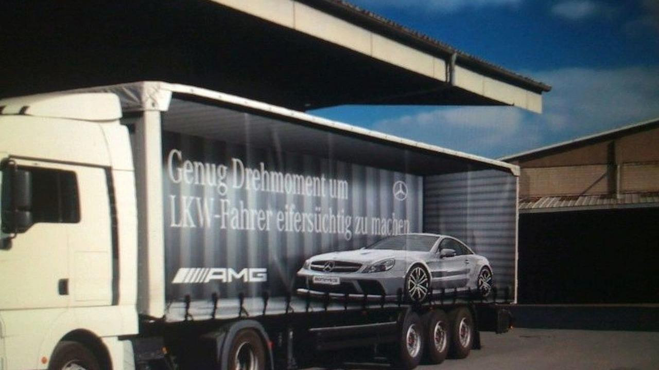 Mercedes SL65 AMG Black Series Outdoor Adverts