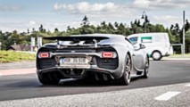 Nürburgring'deki Bugatti Chiron test aracı