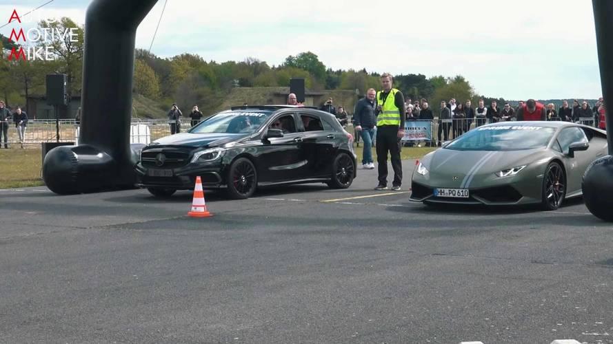 Mercedes-AMG A45s Drag Race Ferrari California, Audi R8, And More