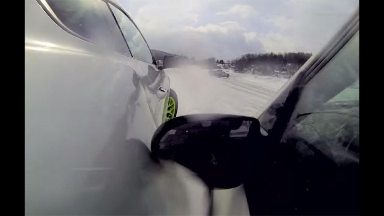 """Veja o novo Mustang """"brincando"""" de patinação no gelo - vídeo"""