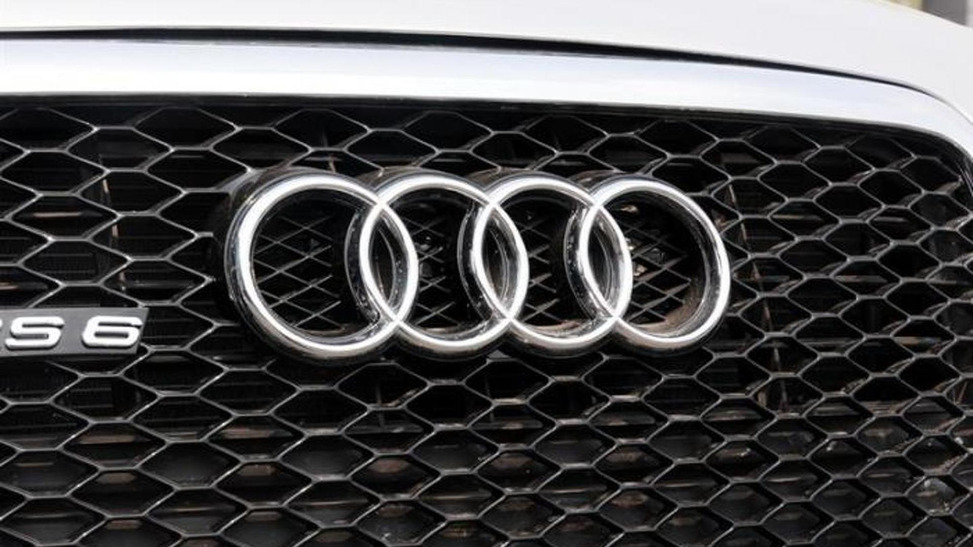 Кольца Audi на радиаторной решетке