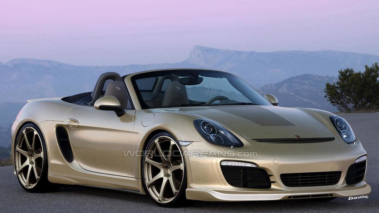 2013 Porsche Boxster with body kit rendering 29.03.2012