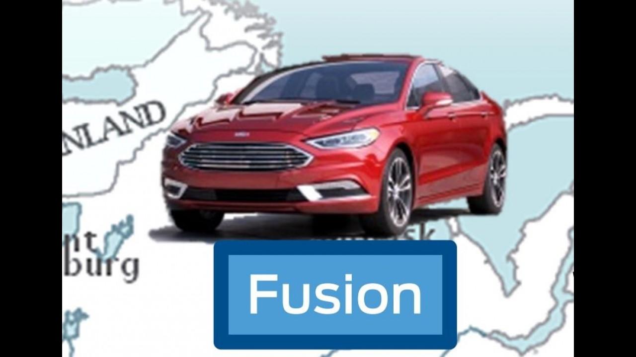 Ford divulga teaser e confirma estreia do renovado Fusion para Detroit
