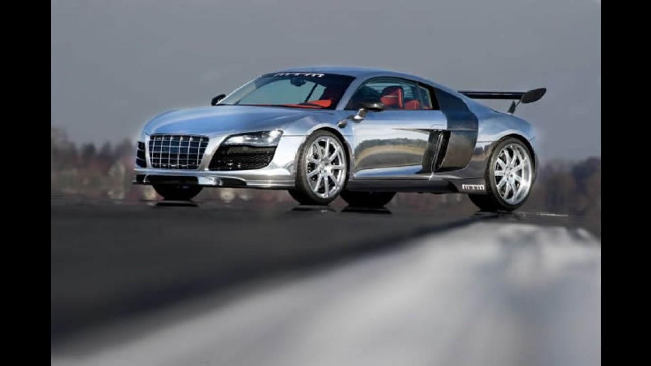 Genebra: Audi R8 brilha em versão cromada e motor de 777 cv