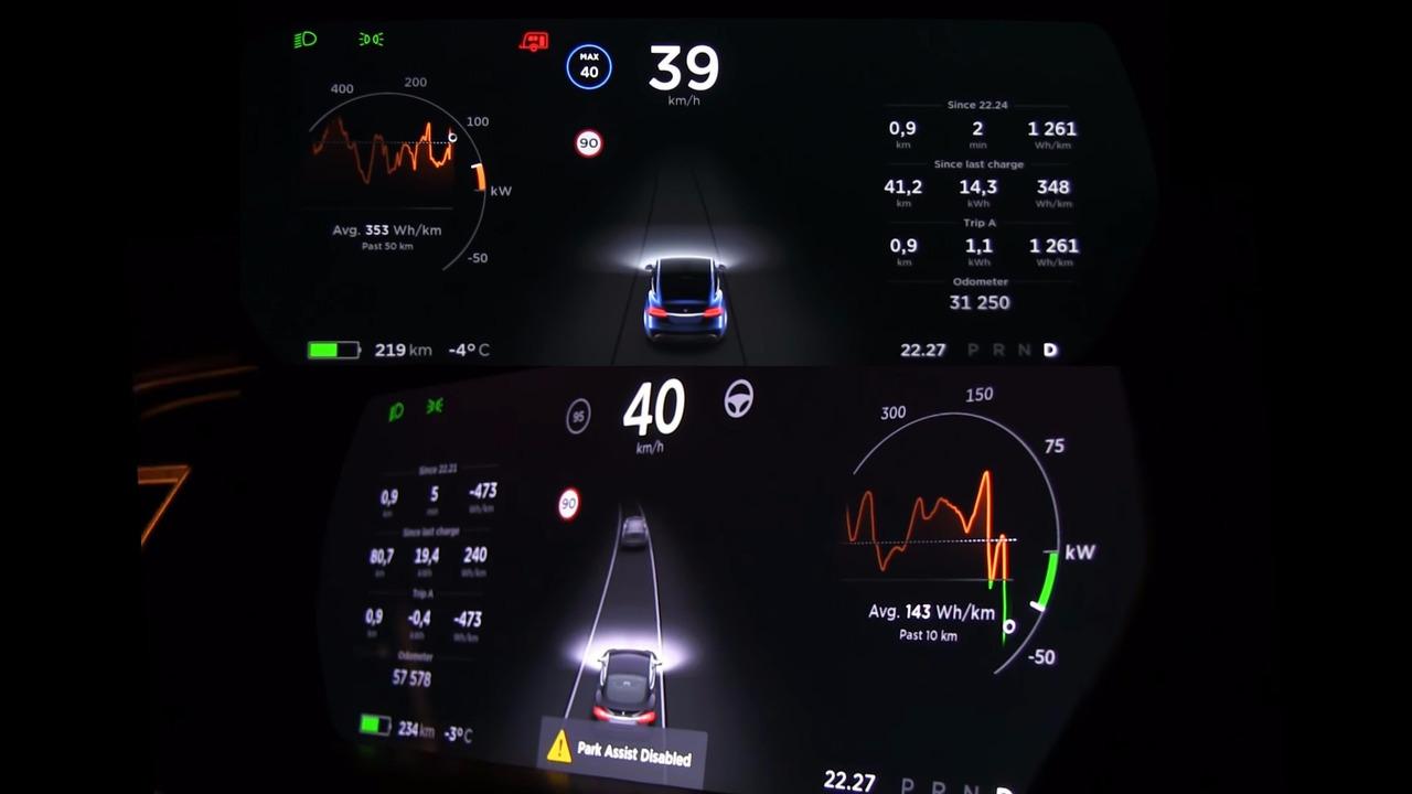 Tesla tow battery recharge
