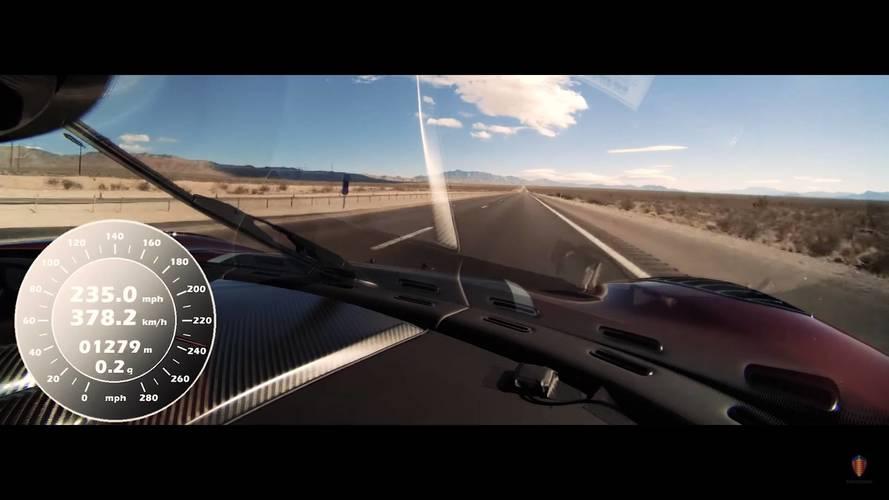 VIDÉO - Le 0-400-0 km/h à bord de la Koenigsegg Agera RS