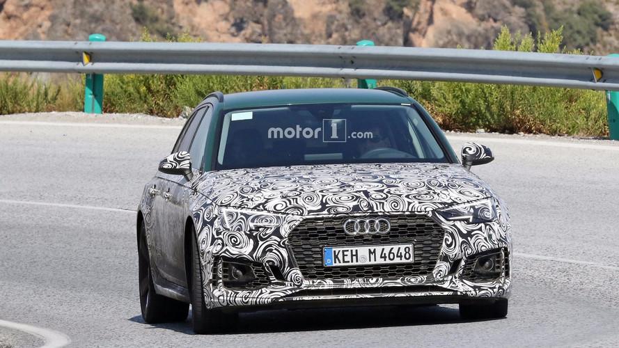 2018 Audi RS4 Avant with Sonoma Green paint spy photos