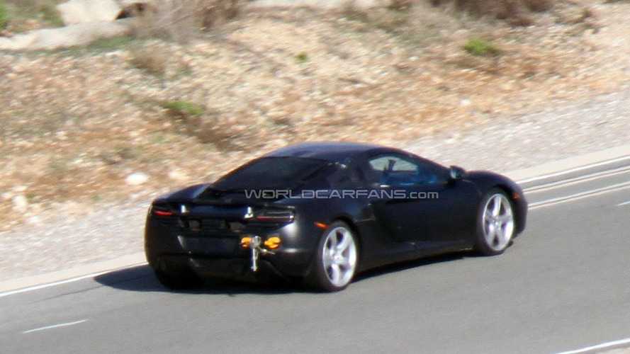 2013 McLaren MP4-12C Spider spied for first time