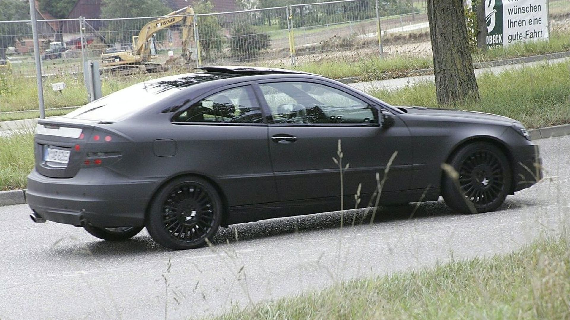 mercedes c sport coupe spied. Black Bedroom Furniture Sets. Home Design Ideas