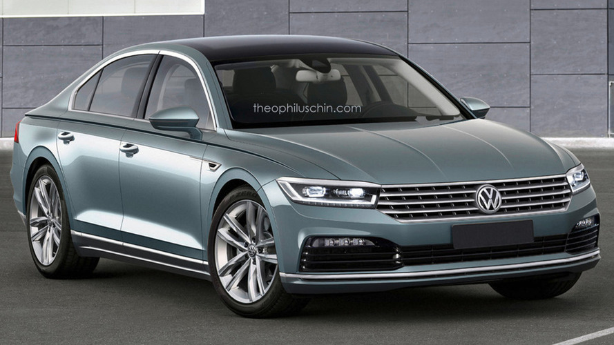 All-new Volkswagen Phaeton speculatively rendered based on C Coupe GTE concept