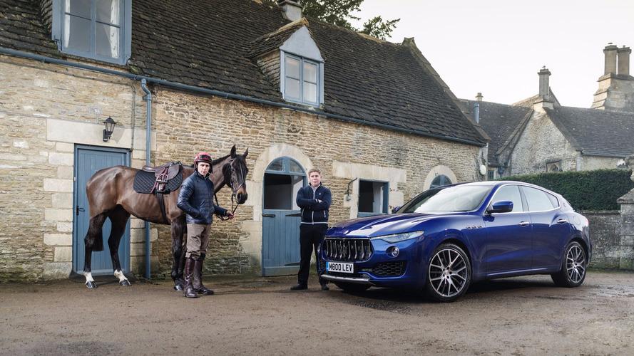 Maserati Levante versus horse in Grand National build up