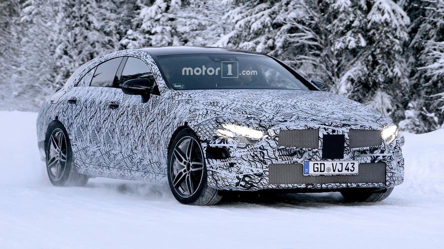 Flagra - Mercedes-Benz CLS 2018 é pego em testes na neve