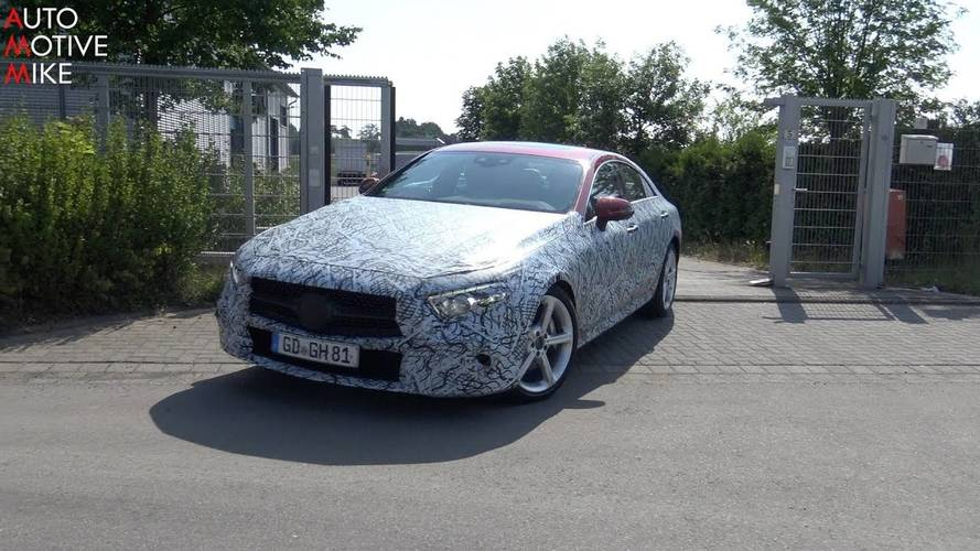 Mercedes CLS spied in motion for the last time ahead of reveal