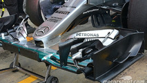Mercedes AMG F1 Team W07 nose detail