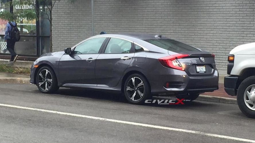 2016 Honda Civic Sedan photographed undisguised in Michigan