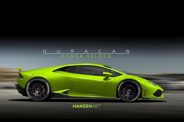 Lamborghini Huracan Corsa Veloce Rendered