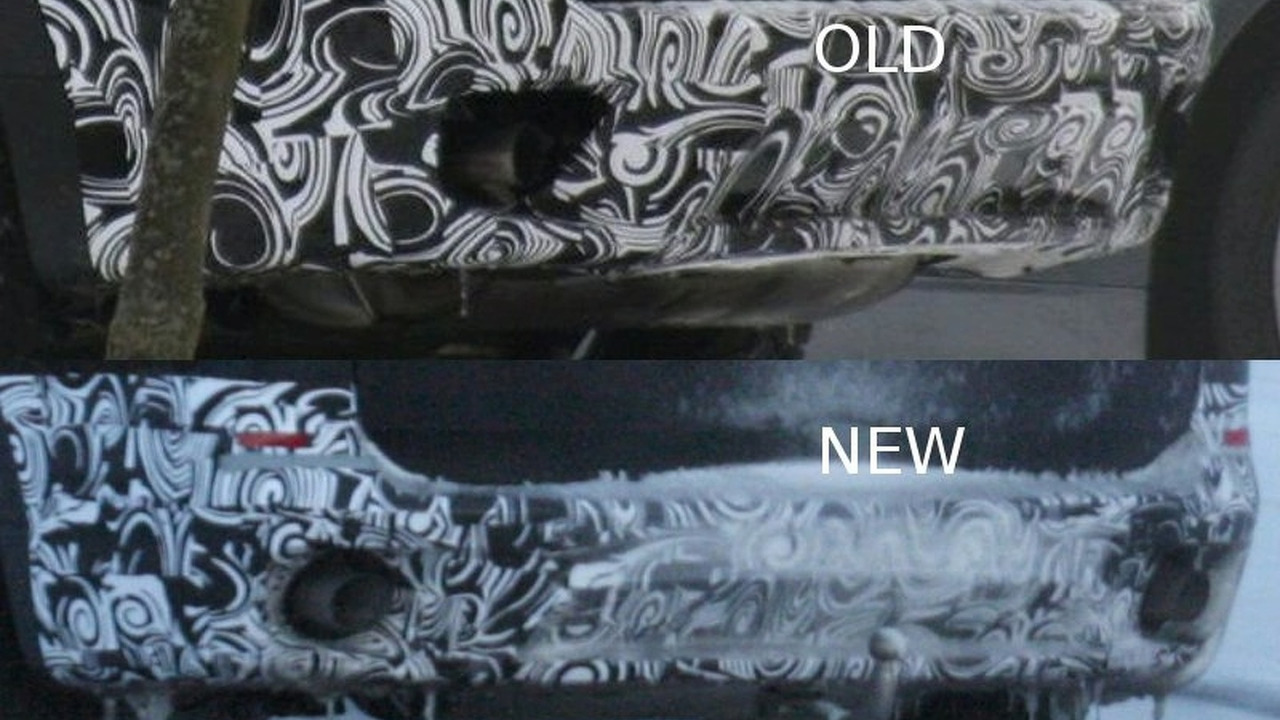 BMW X5 facelift prototype rear bumper comparisson