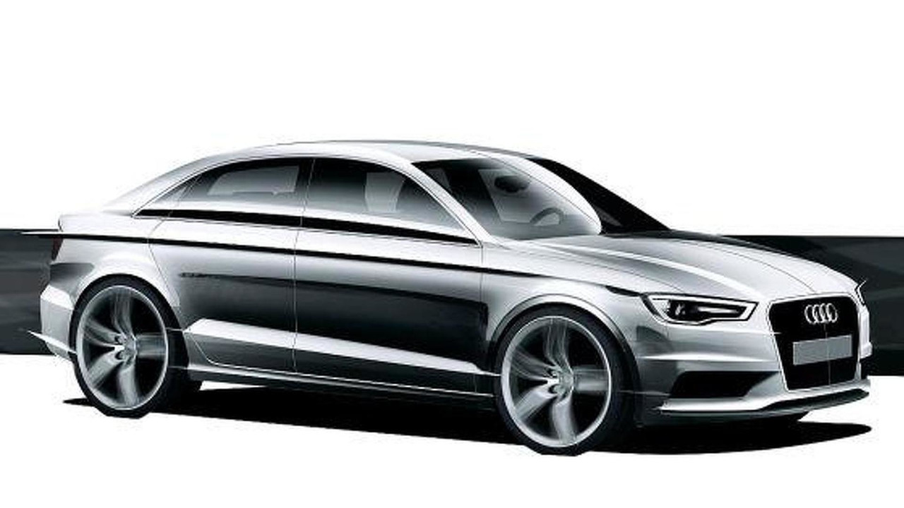 2013 Audi A3 sedan teaser sketch, 500, 11.04.2011