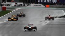 Start practice, Vitantonio Liuzzi (ITA), Force India F1 Team - Formula 1 World Championship, Rd 13, Belgium Grand Prix, Friday Practice, 27.08.2010 Spa, Belgium