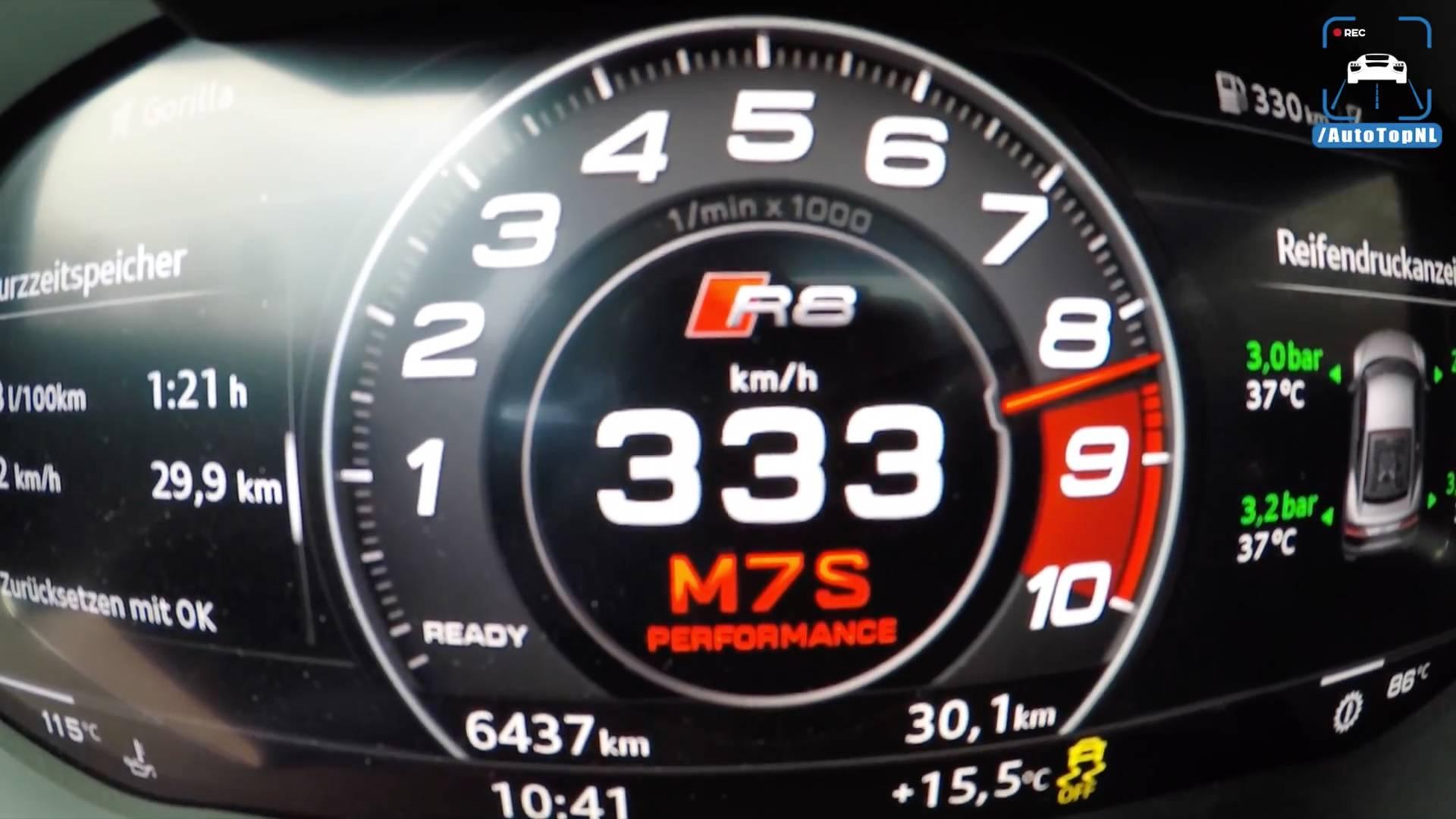 Watch The Audi R8 V10 Plus Blast To 60 MPH En Route To 207 MPH