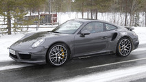 Porsche 911 Turbo S facelift spied inside and out