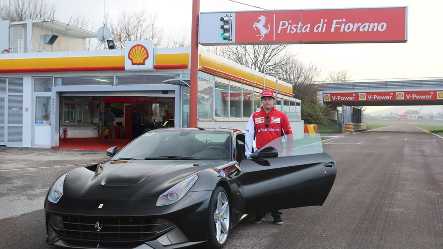 Kimi Räikkönen tackles Fiorano in the Ferrari F12 Berlinetta [video]