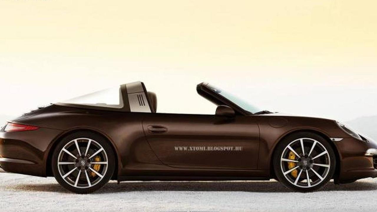 2014 Porsche 911 Targa render