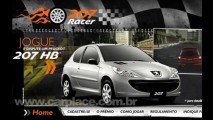 Peugeot lança jogo virtual 207 Racer - Prêmio ao vencedor será um 207 0Km