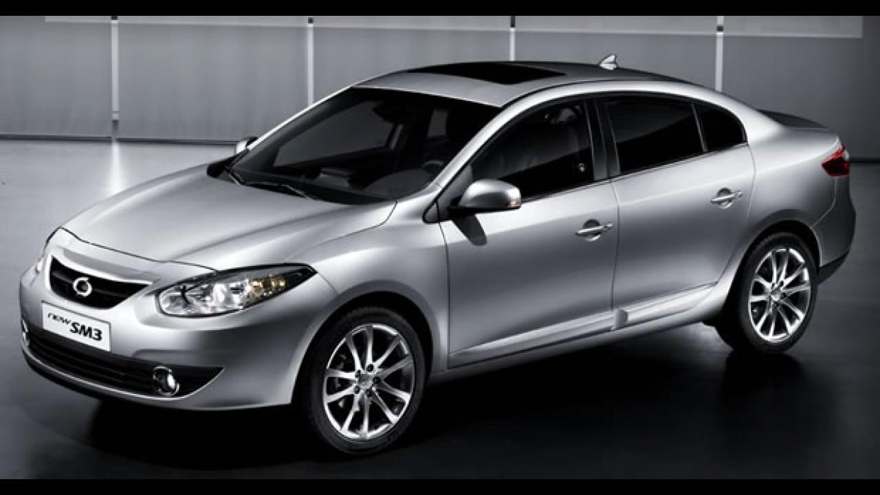 Novo Renault Megane 2010 - Samsung inicia vendas do SM3 na Coréia do Sul por R$ 22 mil
