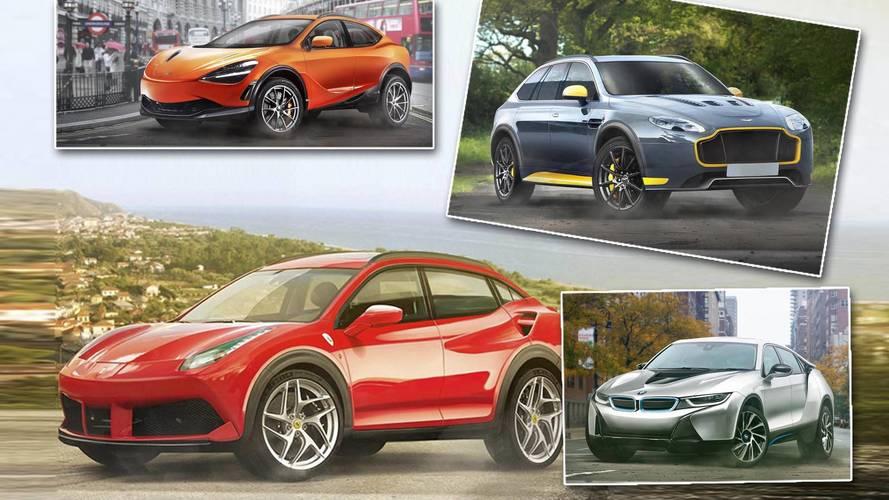So würden Sportwagen als SUVs aussehen