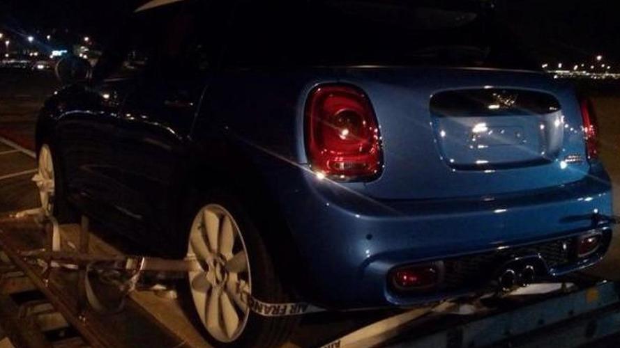 2015 MINI five-door hatchback spied totally undisguised
