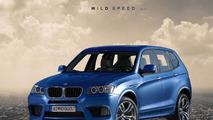 BMW X3 M rendering, 1600, 30.08.2010