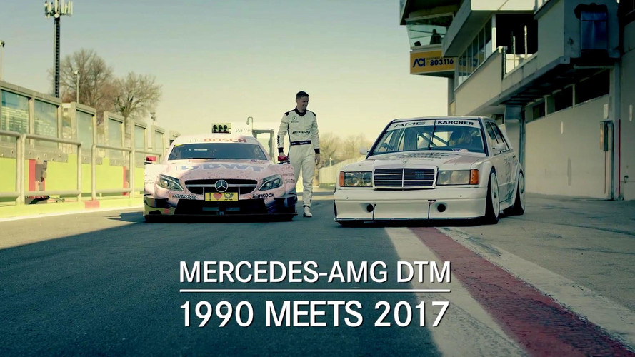 Mercedes 190E And C63 DTM Racers Duel It Out