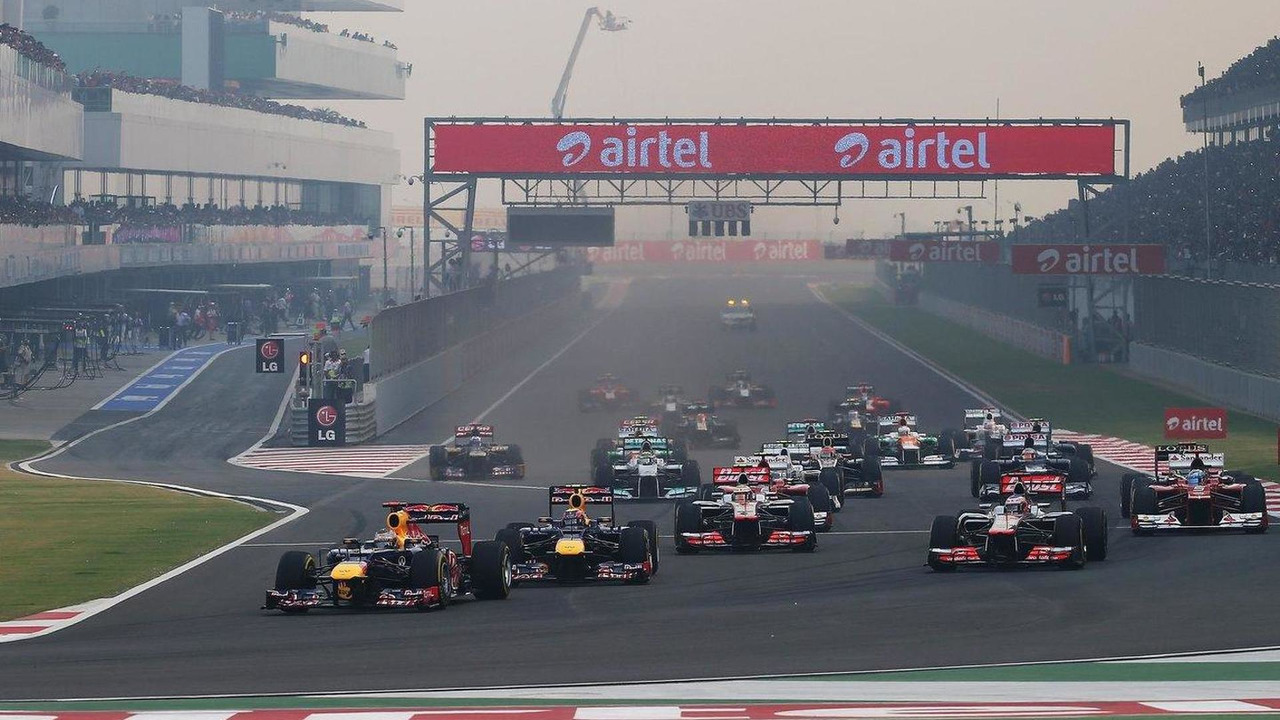 Indian Grand Prix race start, 28.10.2012
