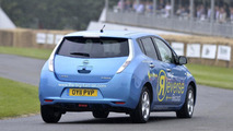 Nissan Leaf reverse record at Goodwood 02.07.2012