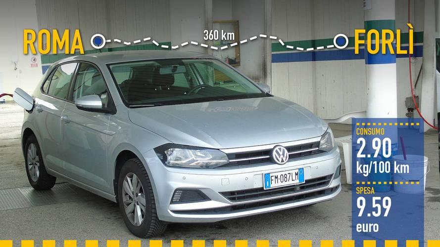Volkswagen Polo 1.0 TGI, la prova dei consumi reali