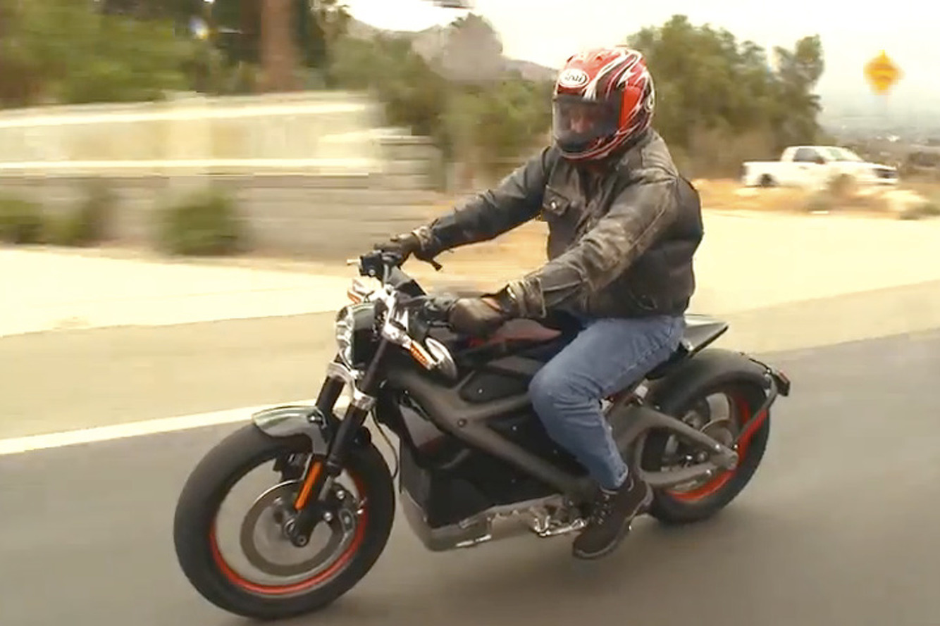 Jay Leno Test Drives Electric Harley-Davidson LiveWire [Video]
