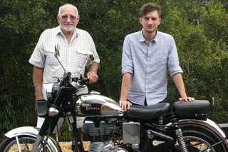 Man Riding from Sydney to London on a Vintage Motorcycle for Charity [Video]