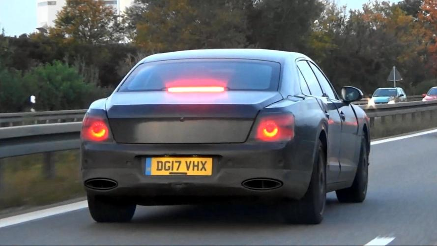 Bentley Flying Spur Spied Testing Under Camo On The Road