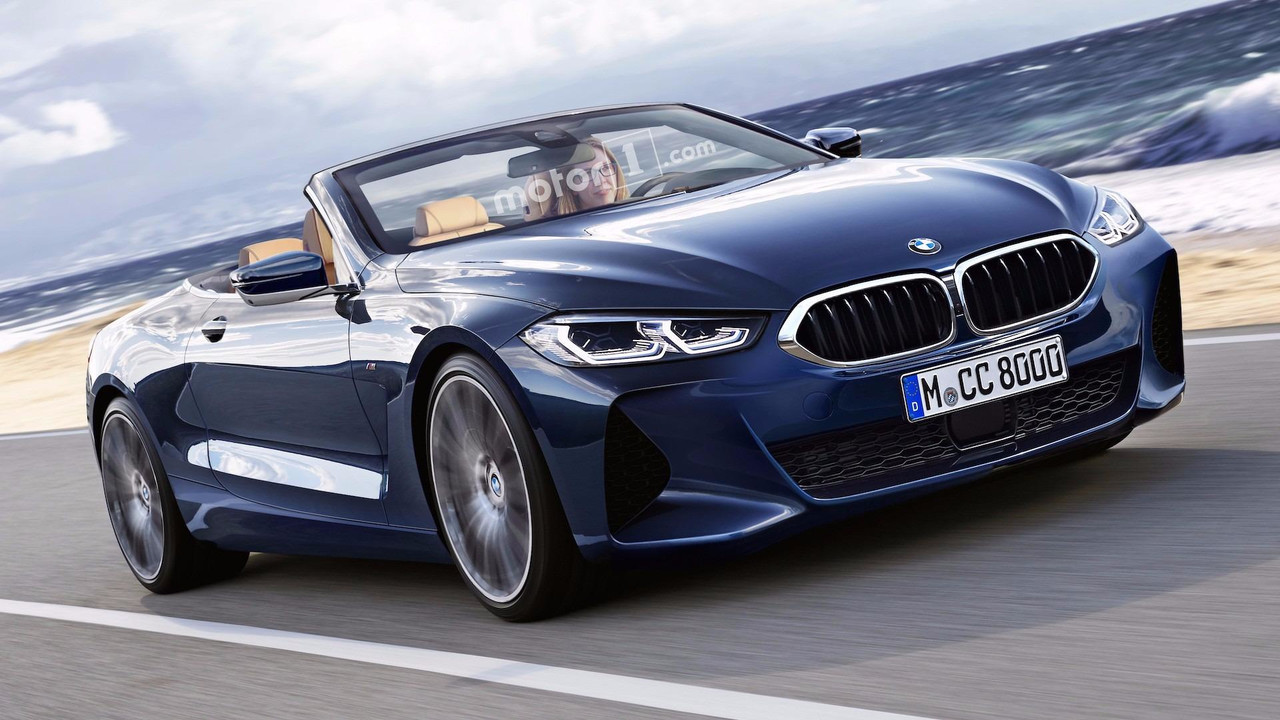 BMW 8 Serisi Cabrio Rendering