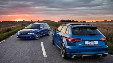 VIDÉO - La nouvelle Audi RS 3 rencontre l'Audi RS 4 Avant de 2001