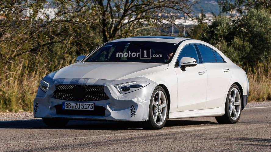 2018 Mercedes CLS spotted almost undisguised