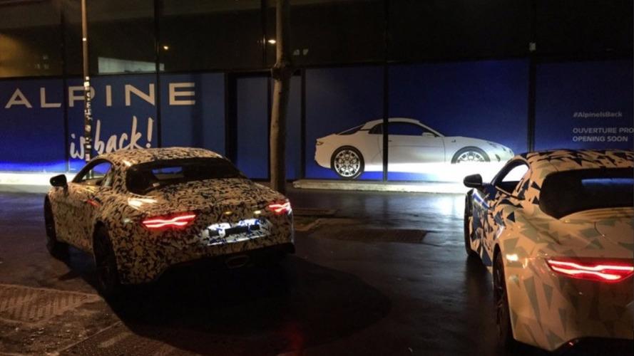 Alpine - La nouvelle berlinette se promène à Boulogne