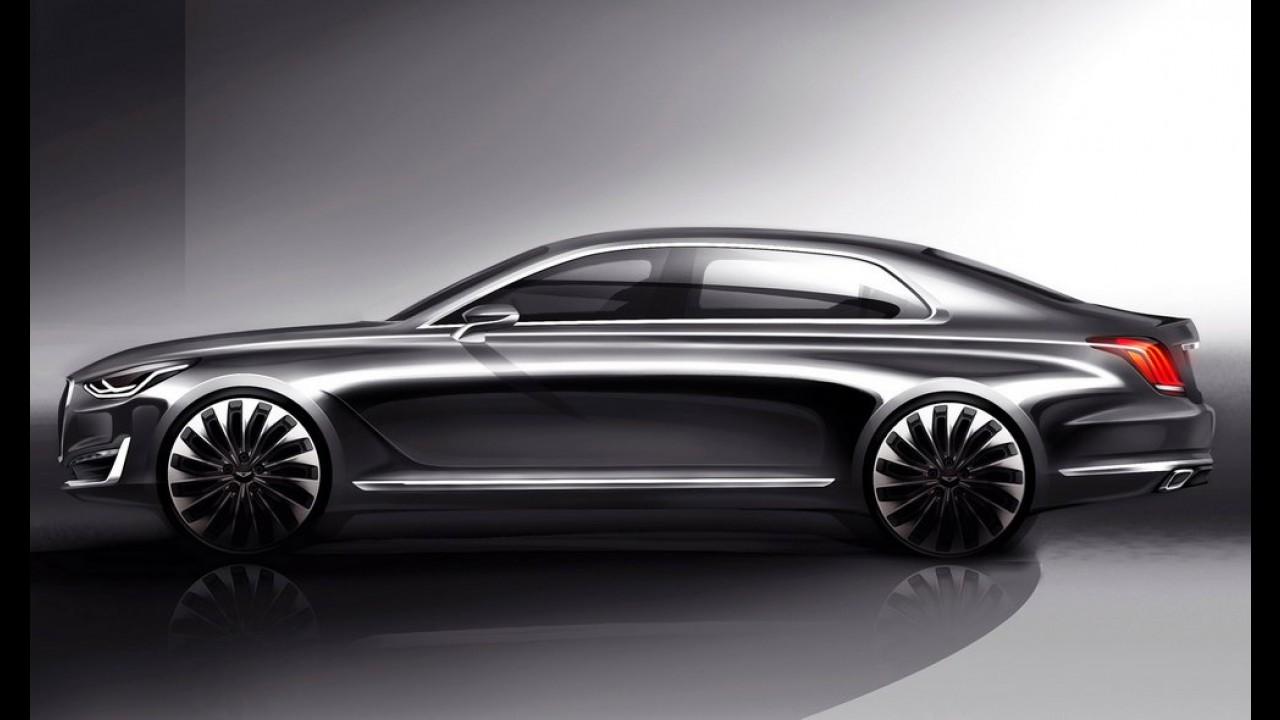 Hyundai mostra Genesis G90, sucessor do Equus e 1º modelo da marca de luxo