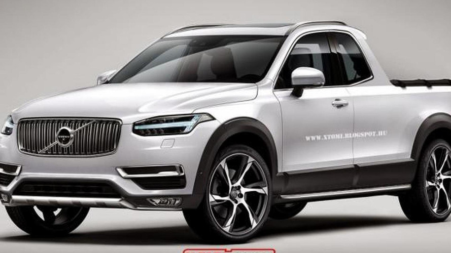 Volvo XC90 rendered as a pickup truck