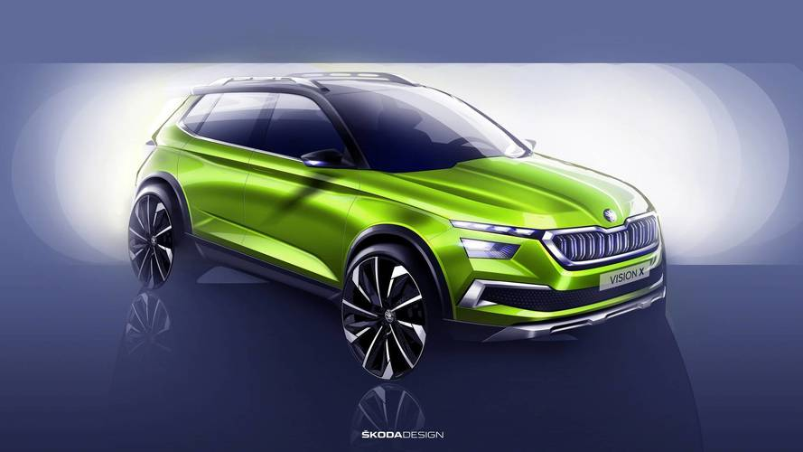 Skoda's Vision X has three different kinds of propulsion