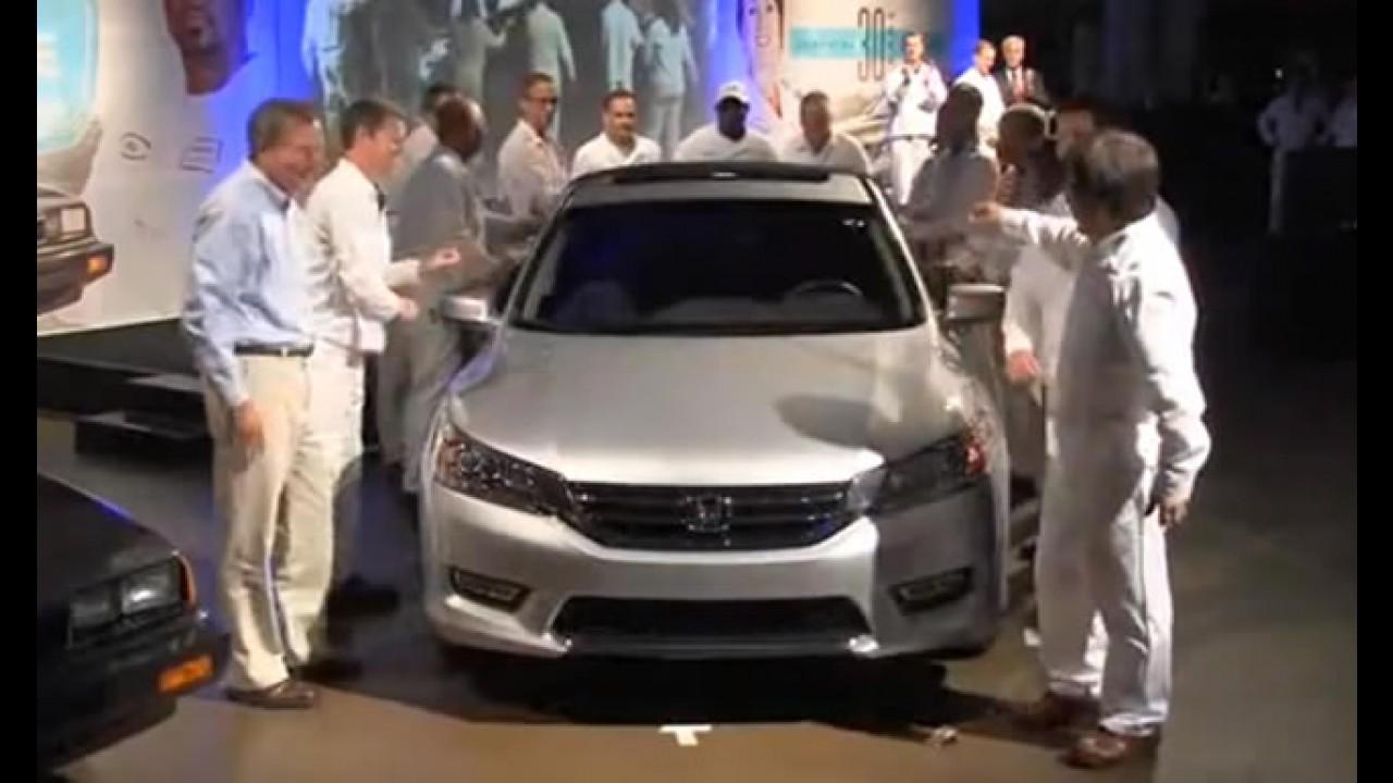 Honda inicia produção em massa do Novo Accord 2013 em Ohio - EUA