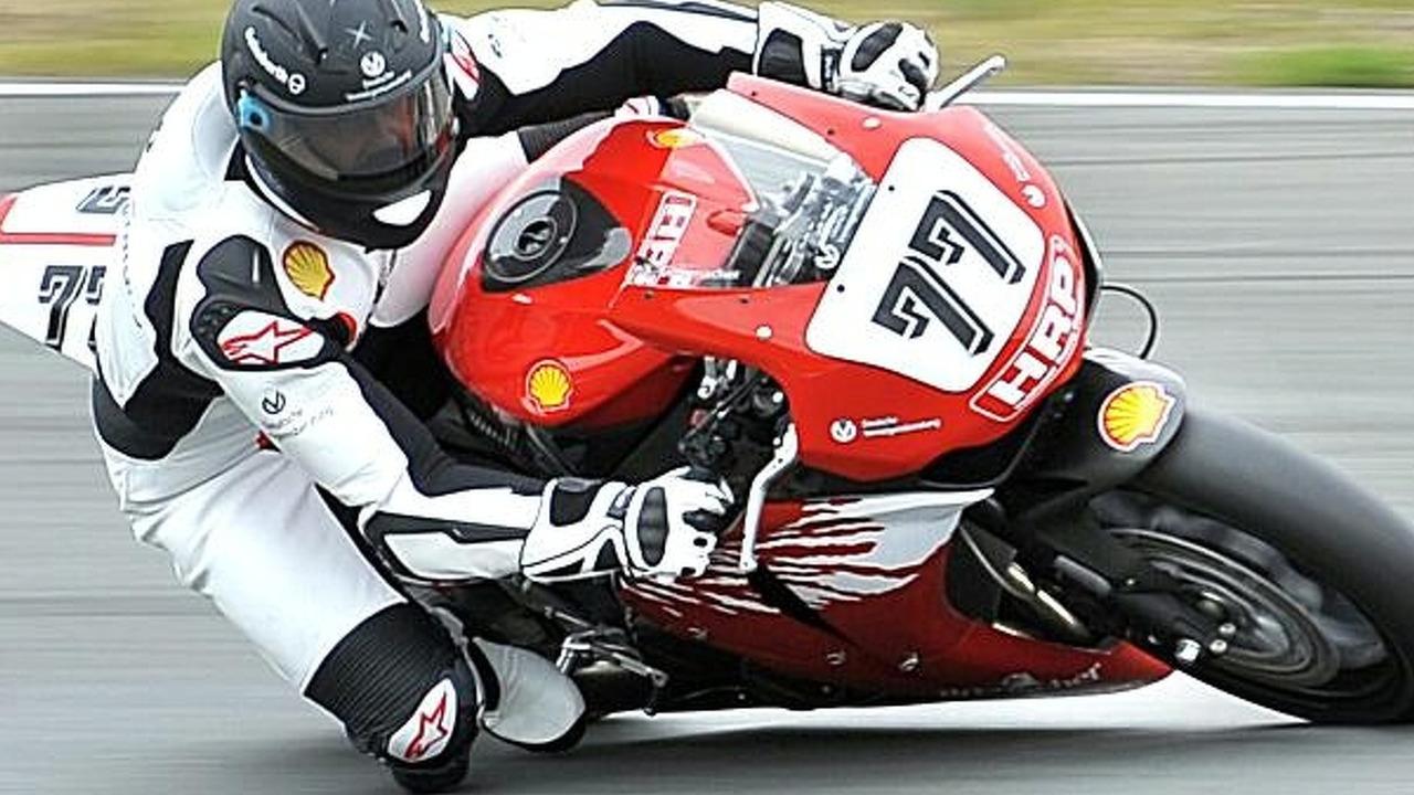 Michael Schumacher on two wheels